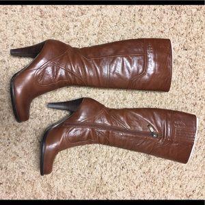 Guess cognac knee high boot 7M